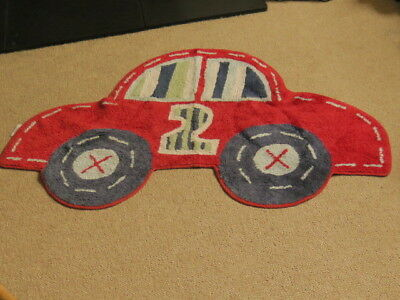 Mothercare car design shaped rug for boys nursery bedroom red and blue