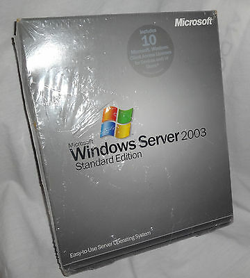 Microsoft Windows Server 2003 Standard With 10 CAL BRAND NEW SEALED P73-00003