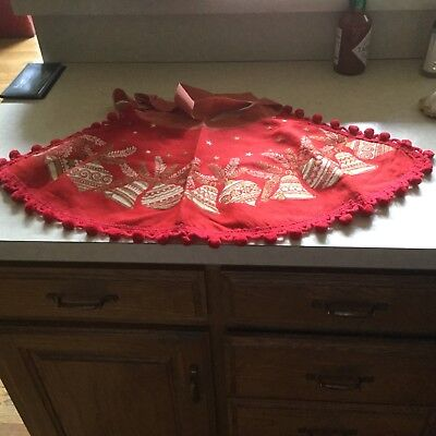 Vintage felt Christmas apron, reminds me of the vintage Stockings! Cute!
