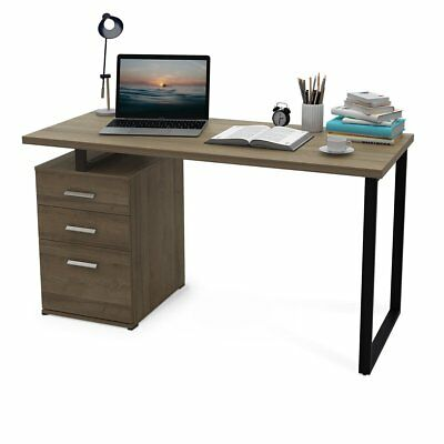 Orford Office Home Furniture Computer Desk Laptop Table with Filing Cabinet