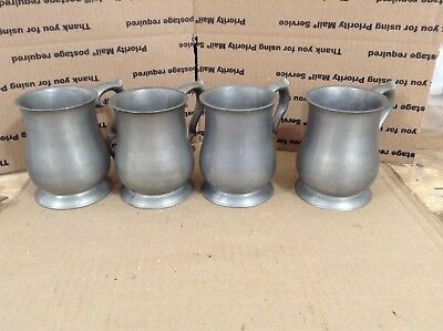 Lot of Vintage PEWTER MUGS/TANKARDS - QUEEN ANNE STYLE