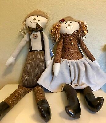 Woof & Poof Scarecrow Boy And Girl – 2015 – New With Tags