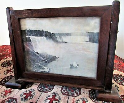 "Antique Mission Arts and Crafts Movement Wood Oil Painting OAK Frame 8"" x 10"""