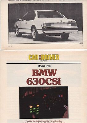 1977 BMW 630CSi Coupe, Detailed Road Test Report from USA Issue Car Magazine