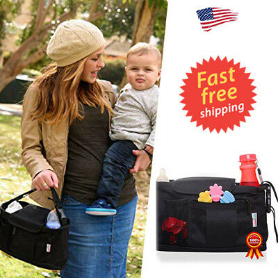 Stroller Organizer Bag, Car Organizer, Parent Console Bags for Baby Pram and Tod
