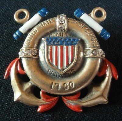 Vintage USCG United States Coast Guard Pinback Brooch Sweetheart Pin
