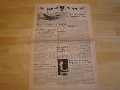American Airlines Flagship News. Company newspaper 1946
