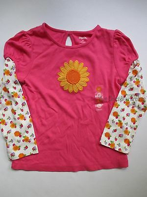 Gymboree Sunflower Smiles Girls 5T Pink Sunflower Tee Shirt Top Fall NEW NWT