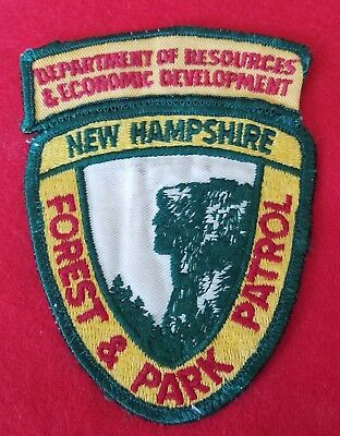 Vintage 1960s  New Hampshire state Police Forest and Park Patrol  patch