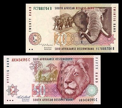 Lot 4 - 2 Banknotes South Africa (UNC)