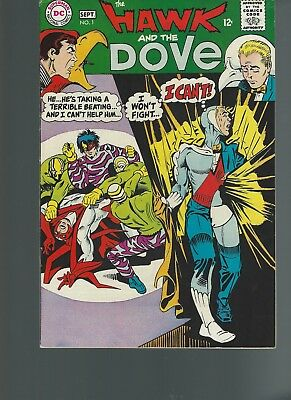 The Hawk and the Dove #1 (Aug-Sep 1968, DC) VF 8.0 Steve Ditko Artwork