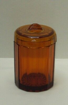 Vintage Antique Amber Glass Tobacco Humidor Jar/Container-Humidity Controller