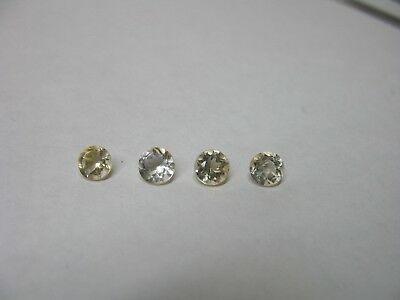 Natural Citrine gemstone LOT x 4 stones 5mm