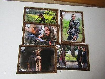 THE WALKING DEAD  SEASON 8  MUD & MOLD PARALLEL CARD LOT 8 CARDS s/n to 50/25