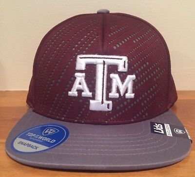 brand new 5b662 5111d Texas A M Aggies Top of The World Adjustable Snapback Hat Cap