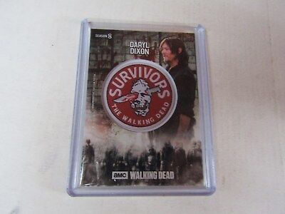 Daryl Dixon  The Walking Dead  Season 8  Manufactured Faction Patch Relic Card