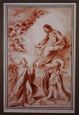 Quericino Old Master Drawing.  (Free Shipping)