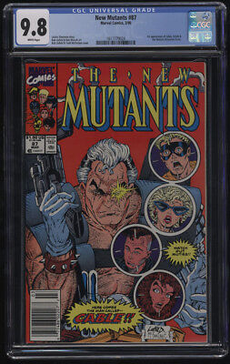 New Mutants 87 1st Cable CGC 9.8 White Pages Newstand Version Key Issue
