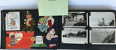 1920s Photo Album 75 Pictures 24 Cards California Northwest Animals Dress Up +++