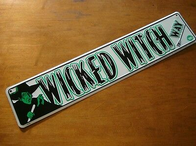 LARGE 2FT WICKED WITCH WAY STREET ROAD SIGN Wizard of Oz Halloween Decor NEW