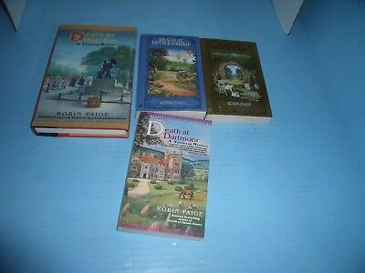 Lot Of 4 Cozy Victorian Mysteries Robin Paige*death At Daisy's Folly*hyde Park