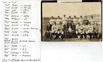 1920's Guy & Eloda Beach Baseball Team Photo La Crosse WI Players Identified