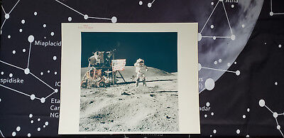 AS16-113-18339 Apollo 16 Orig Photo Red# LM Young Salute Flag