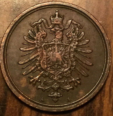 1887 A GERMANY EMPIRE 1 PFENNIG - In incredible details!