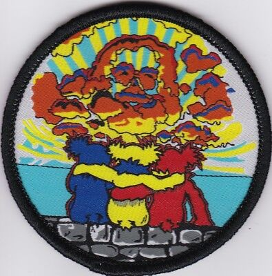 Grateful Dead - Jerry In Clouds With 3 Bears - Sew On Patch