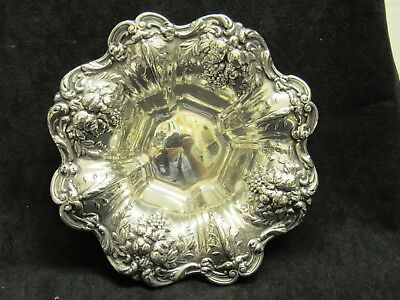 """Vintage Reed & Barton X569 8"""" Sterling Francis I Repousse Large Nut Bowl"""
