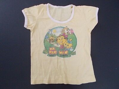 80's Vintage Ms. Pac-Man Pacman and Family UNDEROOS T-Shirt Rare Child Kids