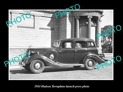 Old Large Historic Photo Of 1934 Hudson Terraplane Launch Press Photo