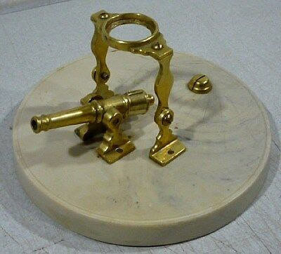 Vintage Noonday Cannon Sundial Instrument Brass cannon w/ heavy resin base. TN