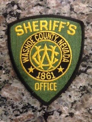 Washoe County Sheriff's Office Patch  1989