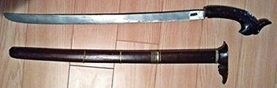Very Old Indonesian Sultan Guard Sword w/ Scabbard