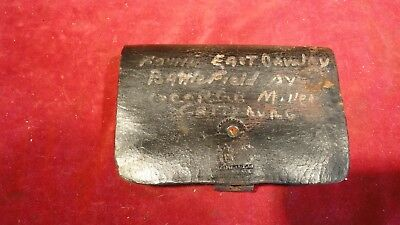 Rare Civil War Era Cavalry Cartridge Box Found East Cavalry Battle Gettysburg
