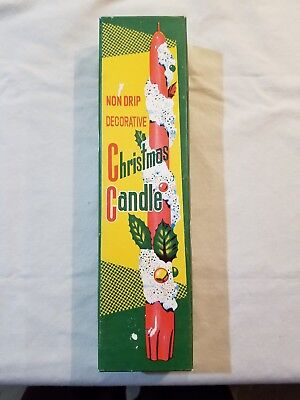 Vintage Christmas Non Drip Decorative Christmas Wax Candle From Japan