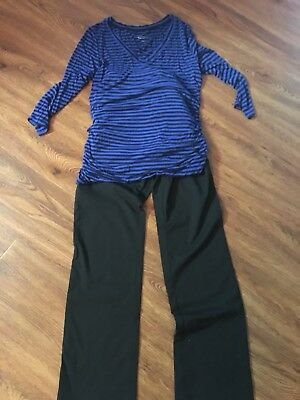 Maternity Outfit Jeans&Top- Very Cute! Size M-Liz Lange