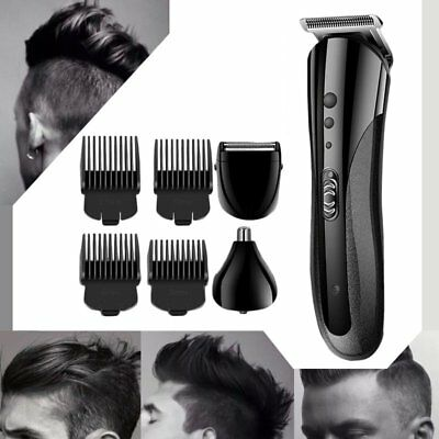 Pro Waterproof Rechargeable Electric Hair Clipper Shaver Trimmer Razor Beard AU