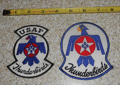 US Military Pair USAF Thunderbirds Airborne Pocket Patches 2 Different