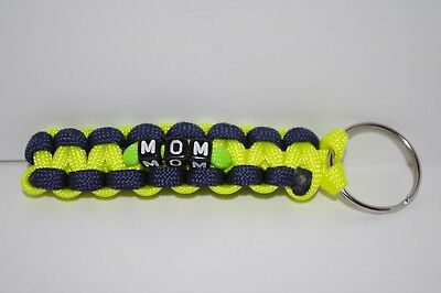 """CUSTOMIZE /& PERSONALIZE 3/"""" OR 4/"""" PARACORD KEYCHAIN W// 25mm KEYRING"""