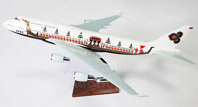 THAI AIR APEC SPECIAL LIVERY 747 JUMBO LARGE PLANE MODEL  SOLD RESIN HS TGJ 47cm