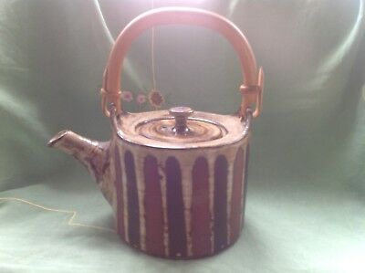 "VINTAGE BRIGLIN TEAPOT.  9"" high (with handle)"