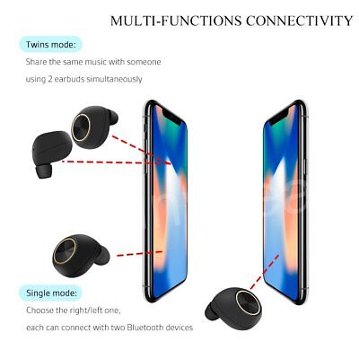 New Wireless Bluetooth Earphones Earbuds for Apple Airpods iPhone X 8 7 6 S Plus