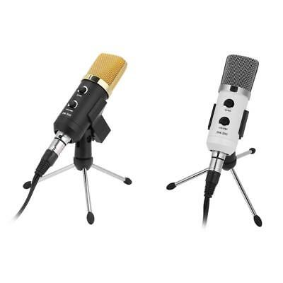 USB Condenser Microphone Studio/Gaming Recording Adjustable Tripod Stand+Filter
