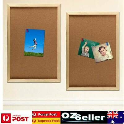 Wooden Frame Cork Board Pins Message Office Memo Notice Board Big Size 60x90cm
