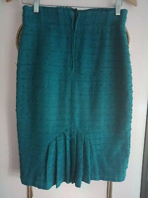 Teal Boucle Pencil Skirt/Wiggle/Vintage Style/Pin Up/Rockabilly/19/50s/1960s