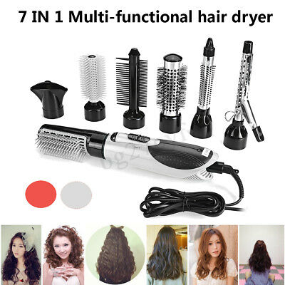 7In1 Hair Blow Dryer Professional Straightener Curler Roll Modelling Brush Tools