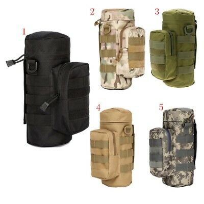 600D Outdoor Tactical Military Molle System Water Bottle Bag Kettle Pouch Holder