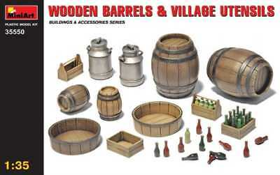 MiniArt 1/35 WOODEN BARRELS & VILLAGE UTENSILS  Diorama 35550